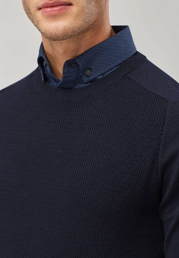Next Pullover mit Rundhalsausschnitt und Hemdeinsatz