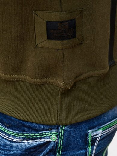 Rusty Neal Sweatshirt mit markantem Streifenmuster