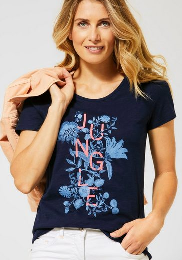 Cecil Print-Shirt mit Struktur-Optik und Jungle-Print