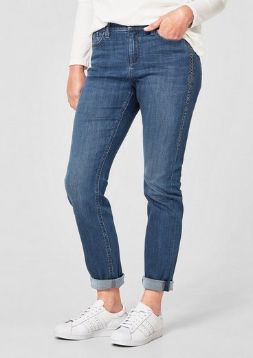 TRIANGLE Curvy Extra Slim: Jeans mit Stitching