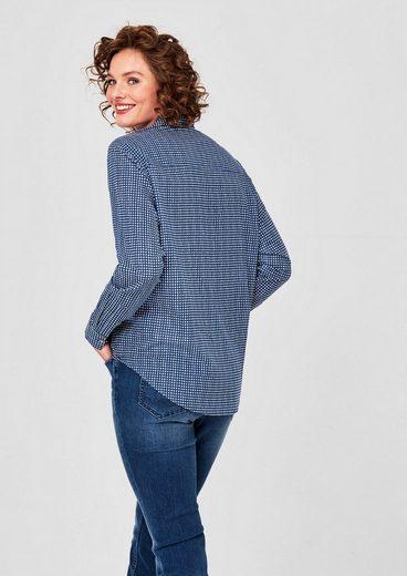 TRIANGLE Gemusterte Bluse aus Batist