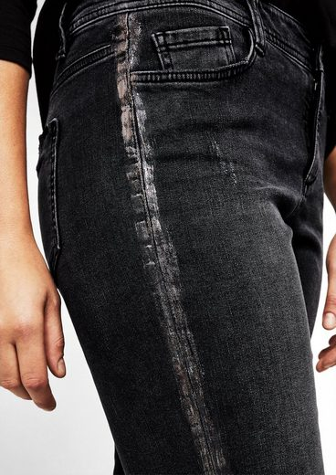 TRIANGLE Curvy Slim: Denim mit Beschichtung