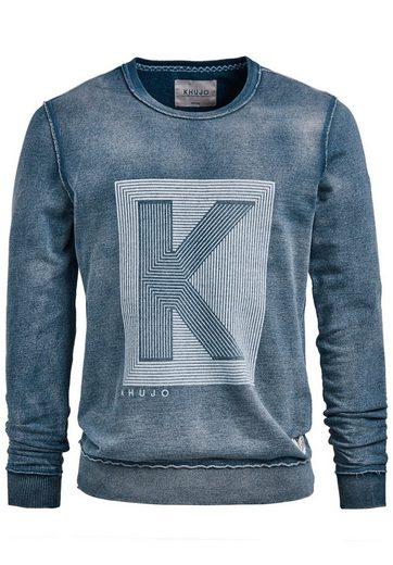 khujo Sweatshirt WAYNE, mit außenliegenden Nähten