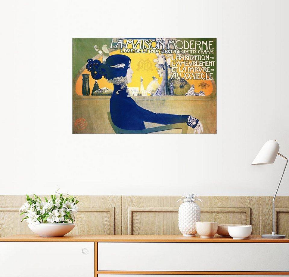 Posterlounge Wandbild - Manuel Orazi »La Maison Moderne« online ...