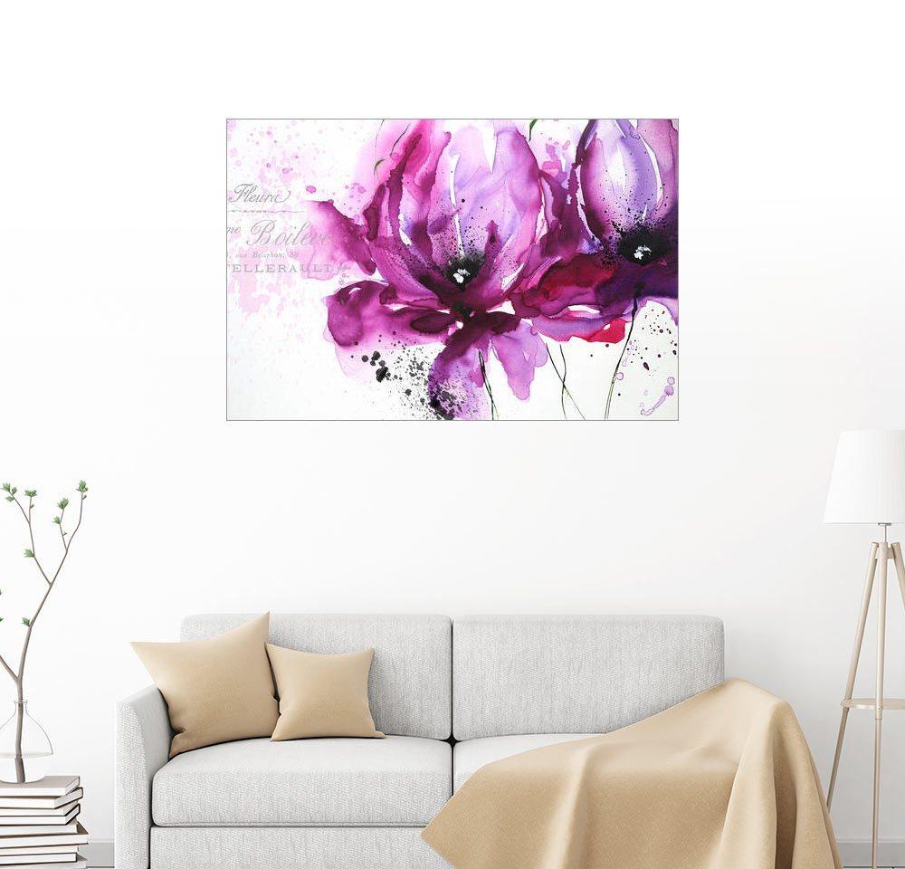 Posterlounge Wandbild - Isabelle Zacher-Finet »Violet Flower« | Dekoration > Bilder und Rahmen > Bilder | Holz | Posterlounge
