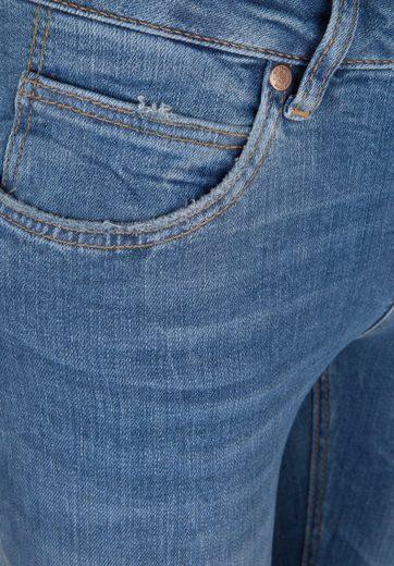 Gin Tonic 5-Pocket-Jeans STRAIGHT FIT light wash, Lift-Effekt