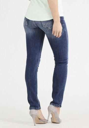Gin Tonic 5-pocket-jeans Slim Fit Mid Wash, Lift-effekt