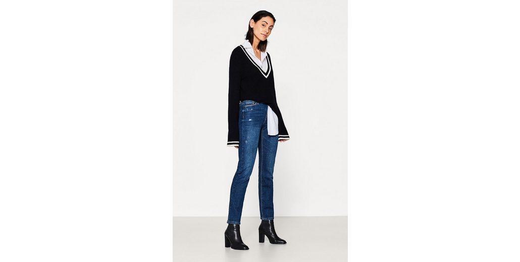 ESPRIT Stretch-Jeans mit Used-Effekten