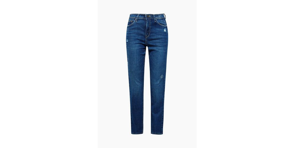 ESPRIT Stretch-Jeans mit Used-Effekten