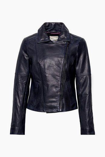 ESPRIT Softe Jacke im Biker-Stil, 100% Leder