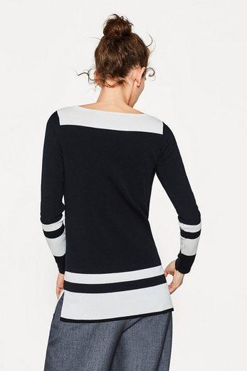 ESPRIT COLLECTION Colourblock-Pullover aus Baumwoll-Mix