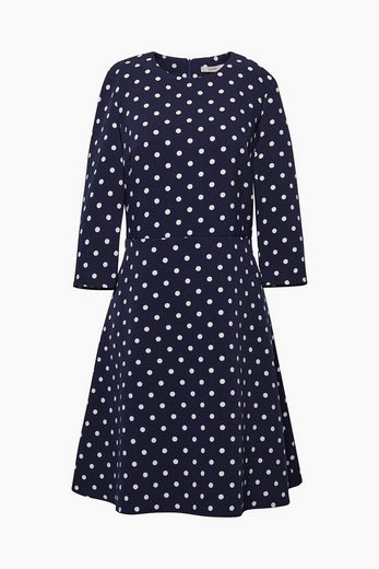 ESPRIT Jersey-Stretch-Kleid mit Polka-Tupfen