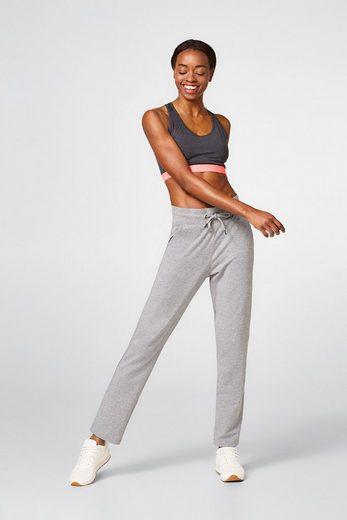 ESPRIT Glatte Jersey-Pants im Melange-Look