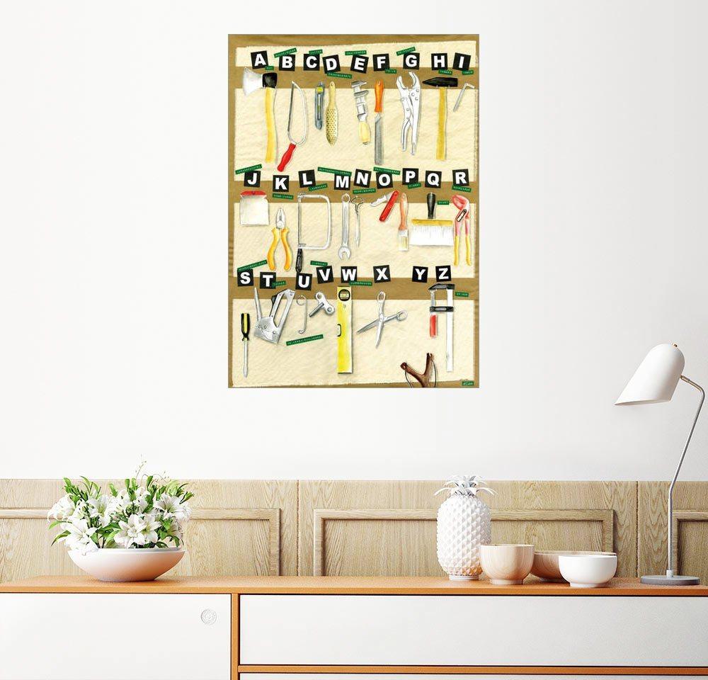 AuBergewohnlich Posterlounge Wandbild   Heike Udes »ABC Alphabet Werkzeuge«