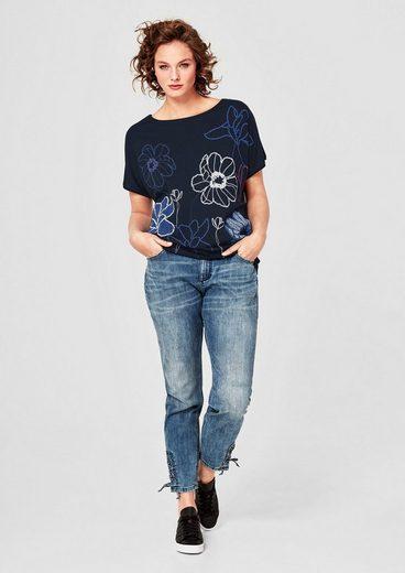 TRIANGLE Jerseyshirt mit gummiertem Print