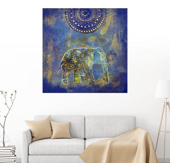Posterlounge Wandbild - Andrea Haase »Blue Elephant«
