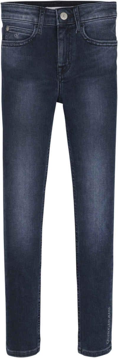 Calvin Klein Jeans Stretch-Jeans »SKINNY HR BLUE BLACK STR« mit hoher Taille