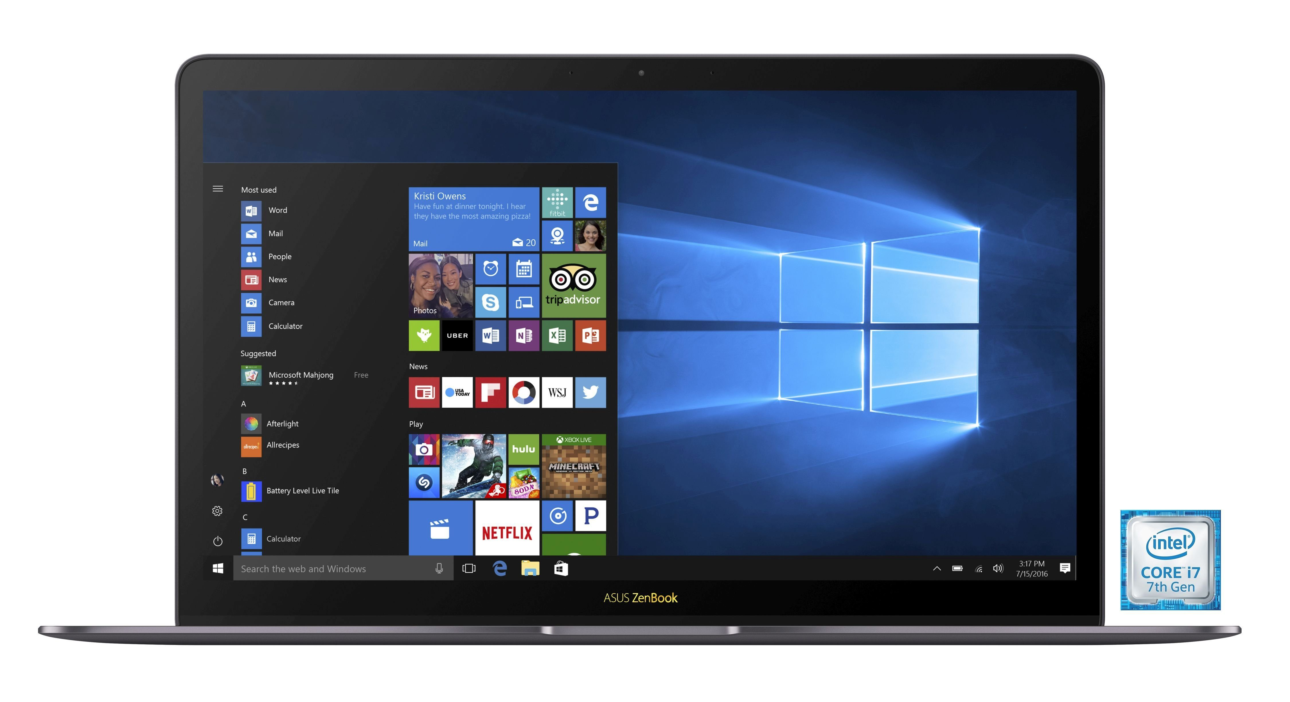 "ASUS ZenBook 3 Deluxe (90NB0EI3-M04060) »Intel Core i7, 35,56 cm (14"")1.000 GB SSD, 16 GB«"