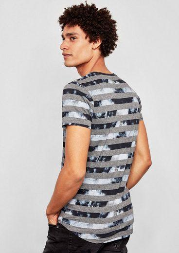 Q/S designed by T-Shirt mit Printstreifen