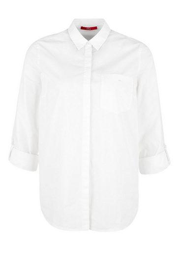 s.Oliver RED LABEL Baumwoll-Bluse mit Brusttasche