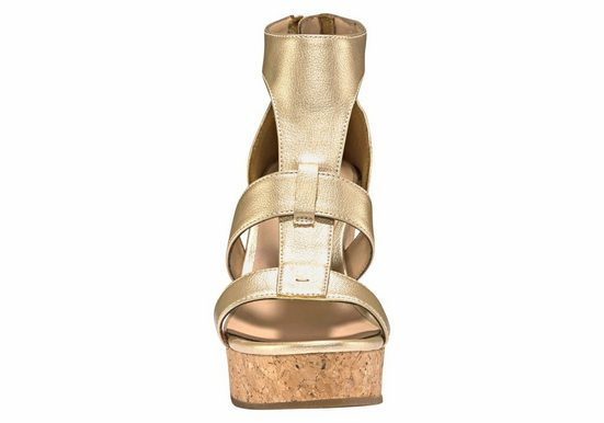 UGG Keilsandalette Whitney Metallic, im trendy Metallic Look