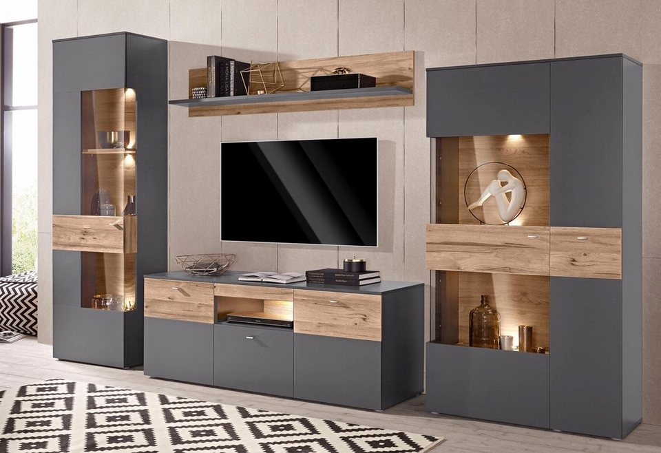 forte wohnwand online kaufen otto. Black Bedroom Furniture Sets. Home Design Ideas
