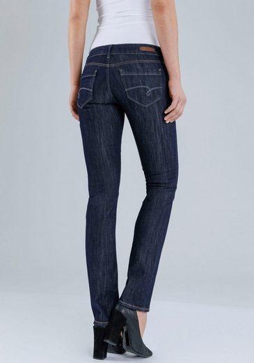 Mavi Jeans Straight-Jeans JULIA, in besonderer Rinsed-Optik