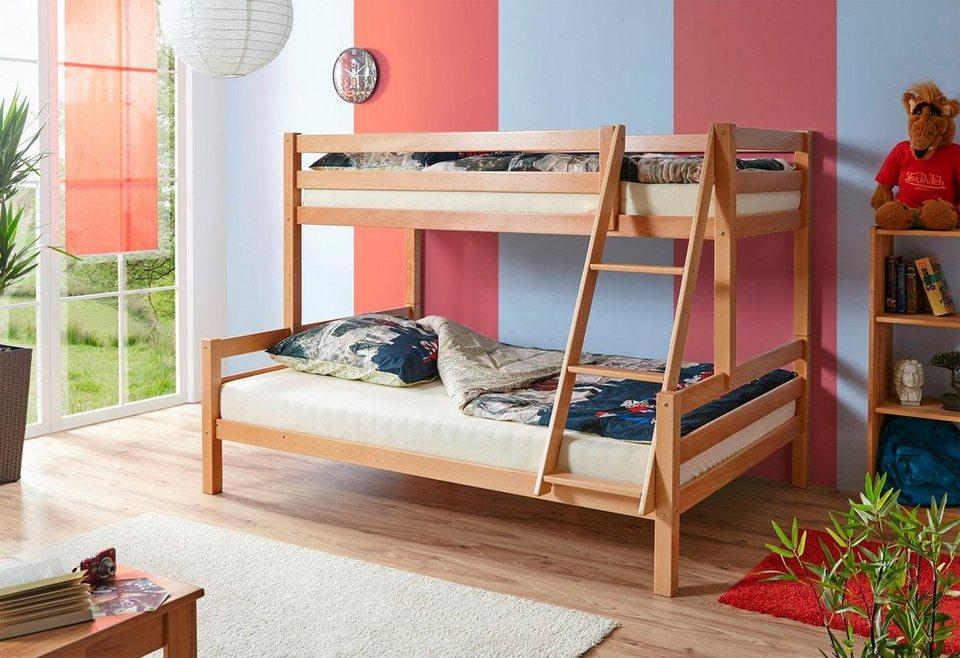 Parisot Etagenbett Bibop : Ticaa einzel etagenbett »maxim« buche kaufen otto