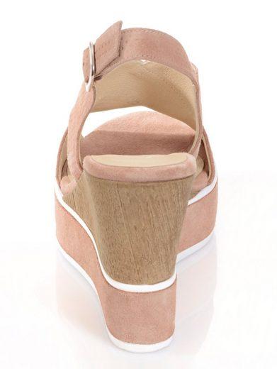 Alba Moda Sandalette mit geprägtem Lochmuster