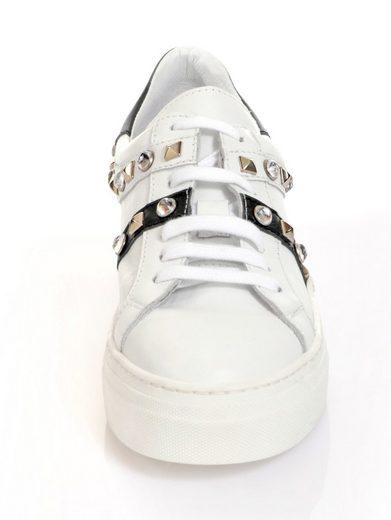 Occupied Alba Moda Sneaker With Rivets And Steinchen