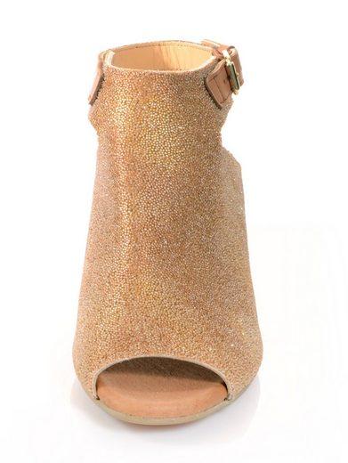 Alba Moda Sandalette mit kleinen Kügelchen besetzt