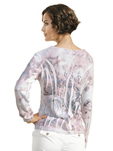 Alba Moda Pullover With Flower Print