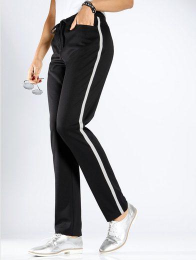 MIAMODA Hose mit seitlichem Streifen