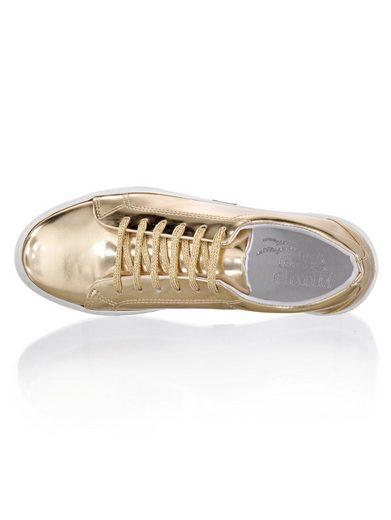 Alba Moda Schnürschuh aus Metallic-Kunstleder