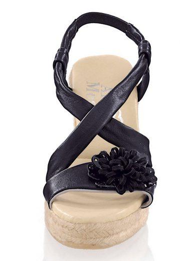 Alba Moda Sandalette mit femininer Blumenapplikation