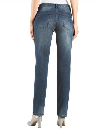 Alba Moda Jeans mit Zierperlen