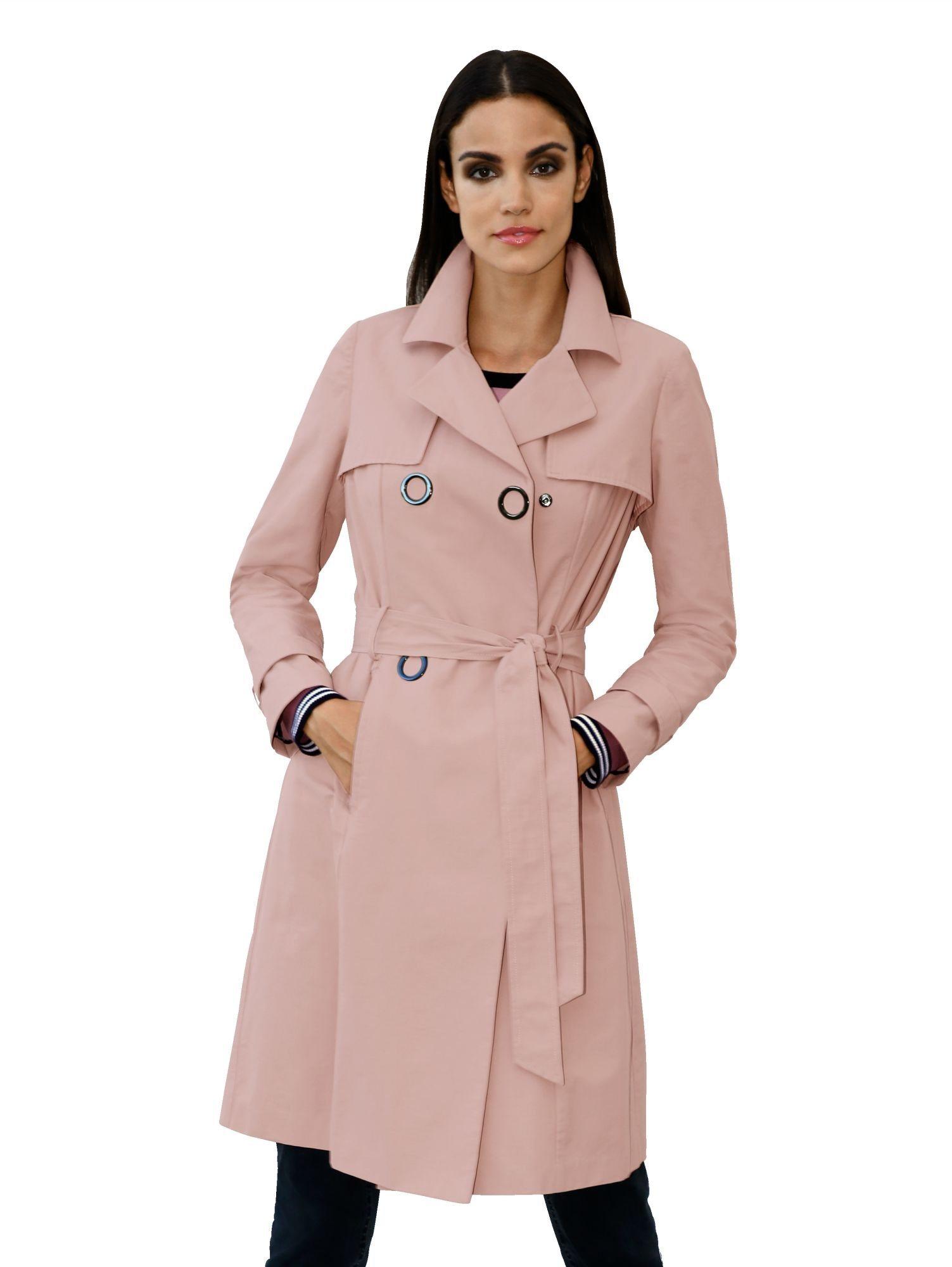 Amy Vermont Trenchcoat mit dekorativen Druckknöpfen | Bekleidung > Mäntel > Trenchcoats | Viskose - Polyamid | Amy Vermont