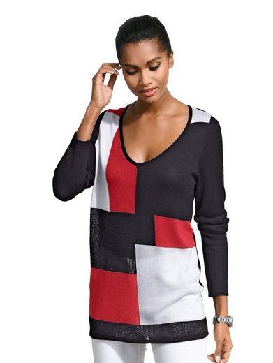 Alba Moda Pullover in aktuellem Colourblocking