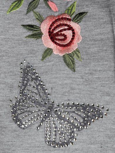 Alba Moda Poloshirt mit floralem Druck