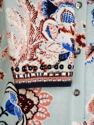 Alba Moda Strickjacke mit ALBA MODA exklusivem Blumendruck