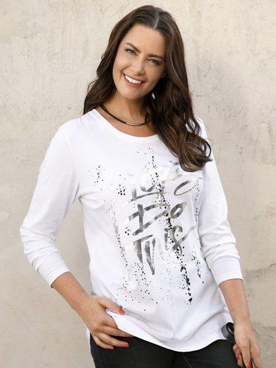 MIAMODA Shirt mit glänzendem Foliendruck
