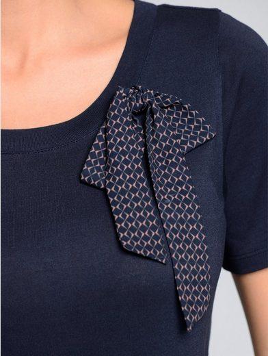 Alba Moda Shirt mit gemustertem Schleifendetail