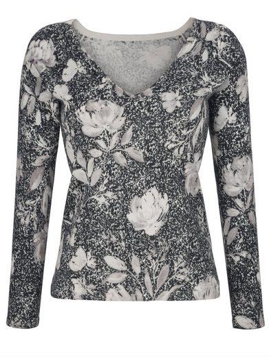 Alba Moda V-Pullover im exklusiven Alba Moda-Print
