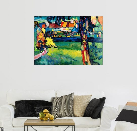 Posterlounge Wandbild - Wassily Kandinsky »Oberbayerische Kleinstadt (Murnau)«