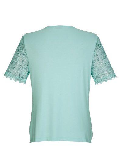 Mona Spitzenshirt mit weichem Jersey