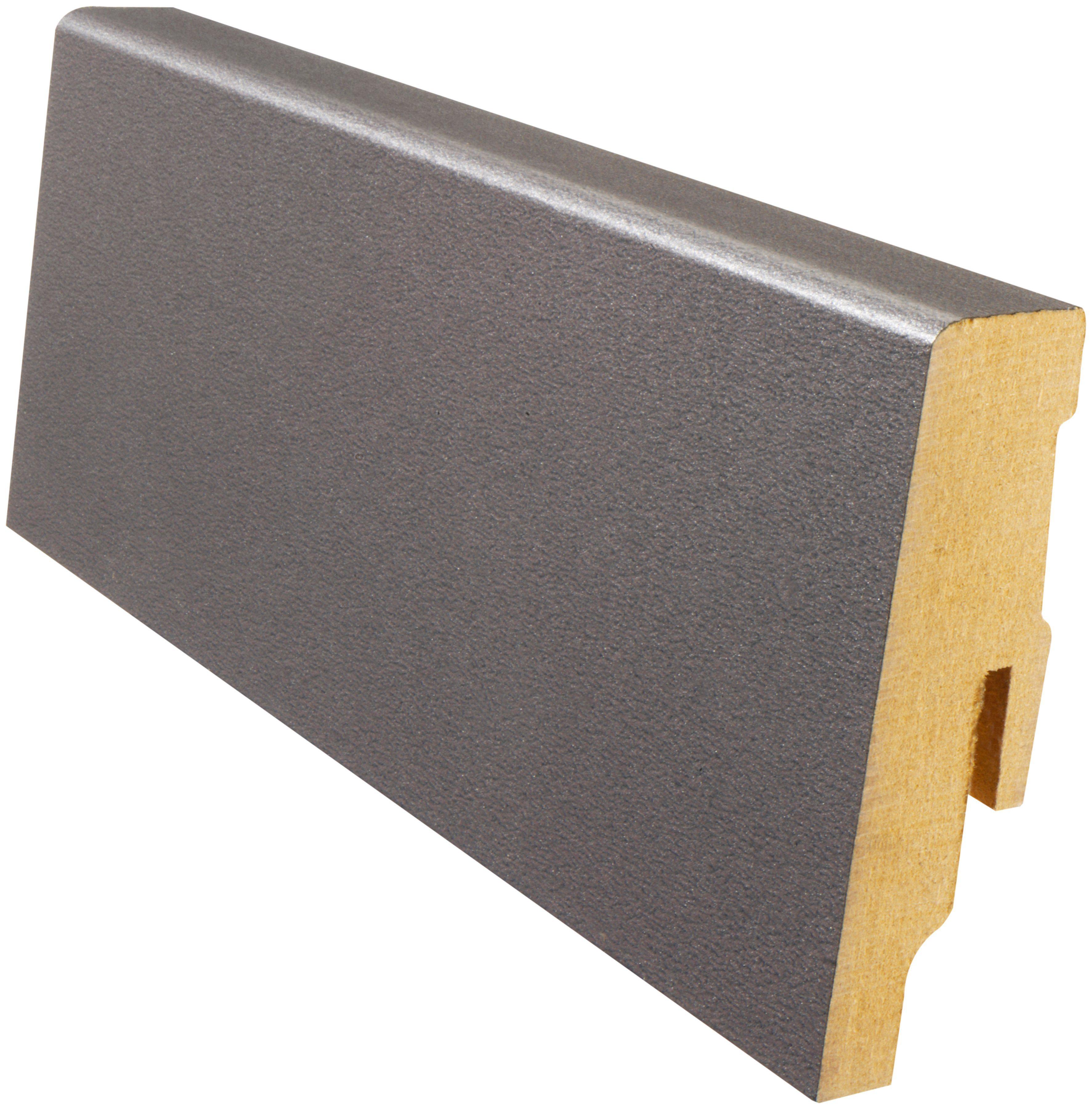 MODERNA Sockelleiste »Designfußleiste DFL 60 - Mangan«, 1 Stk., Höhe: 6 cm