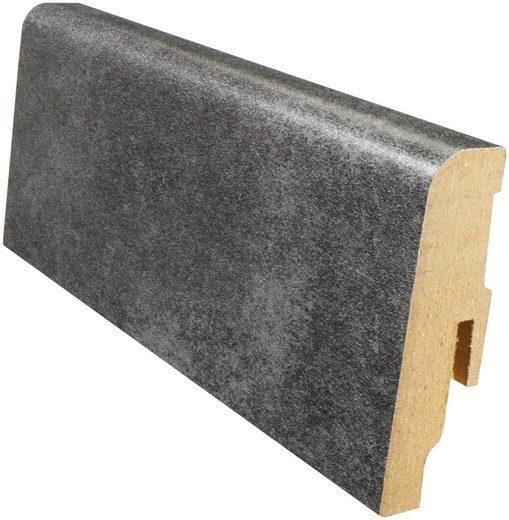 MODERNA Sockelleiste »Akzentfussleiste AFL 60 - Beton anthrazit«, 1 Stk., Höhe: 6 cm