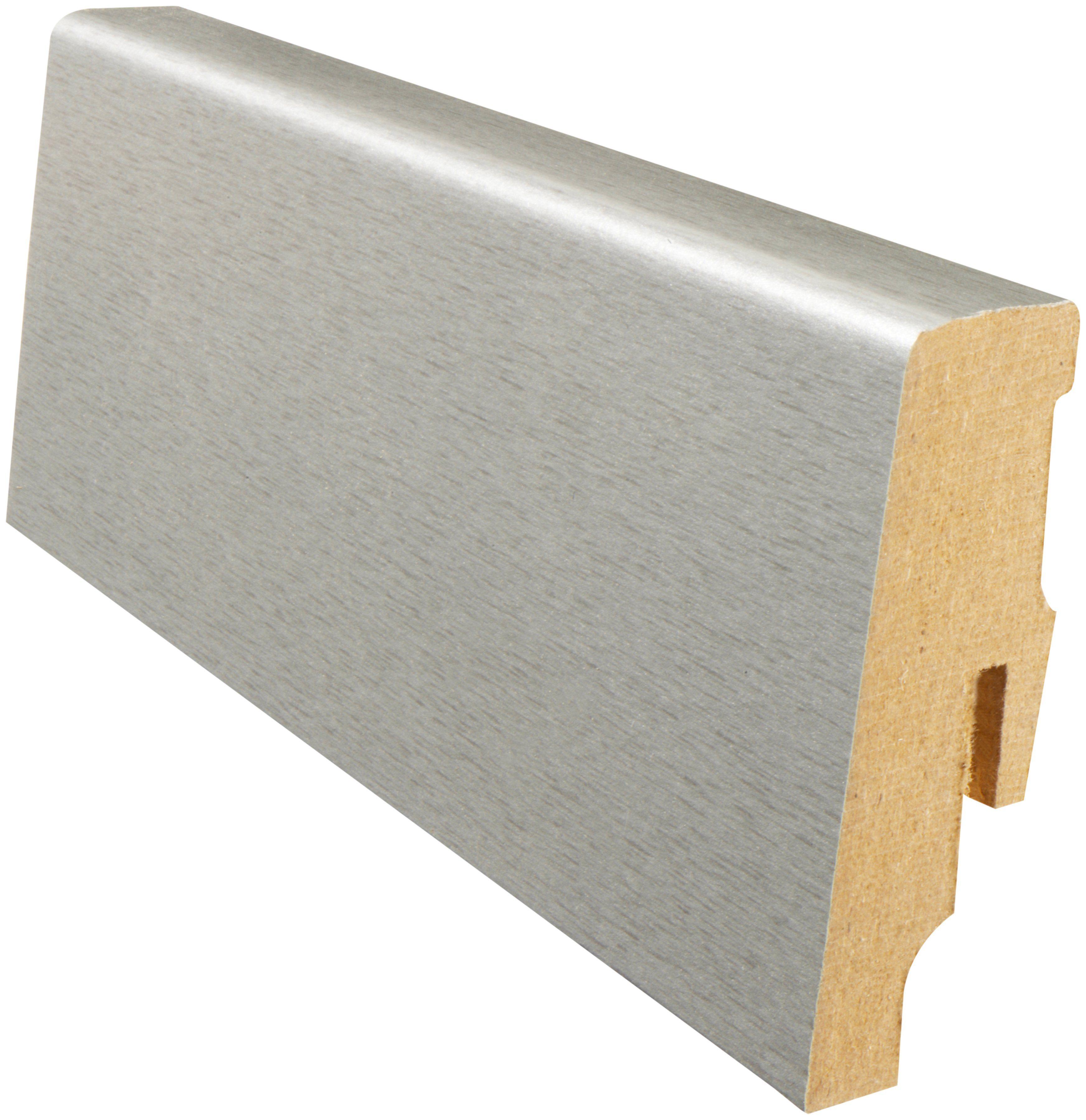 MODERNA Sockelleiste »Designfußleiste DFL 60 - Titan gebürstet«, 1 Stk., Höhe: 6 cm