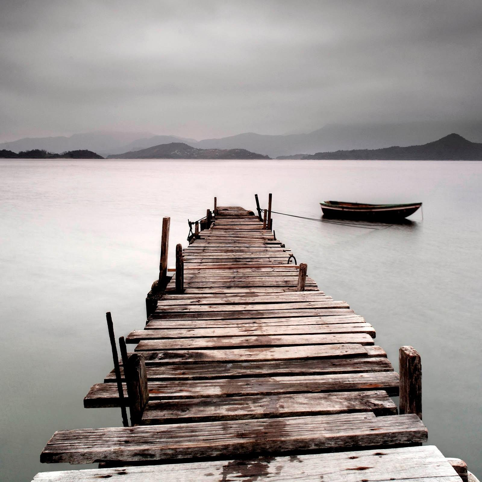 Giclee Fine Art »Old Jetty« 100/100 cm