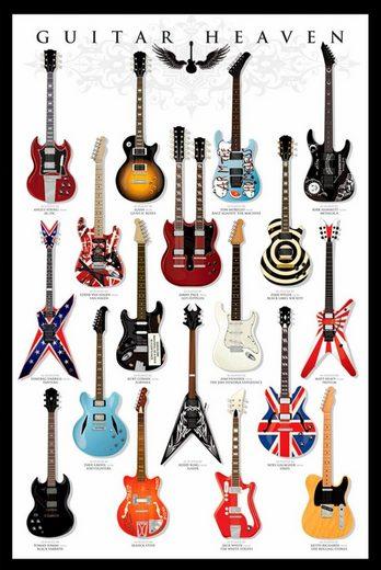 deco panel gitarren himmel gitarre schriftzug 60 90. Black Bedroom Furniture Sets. Home Design Ideas